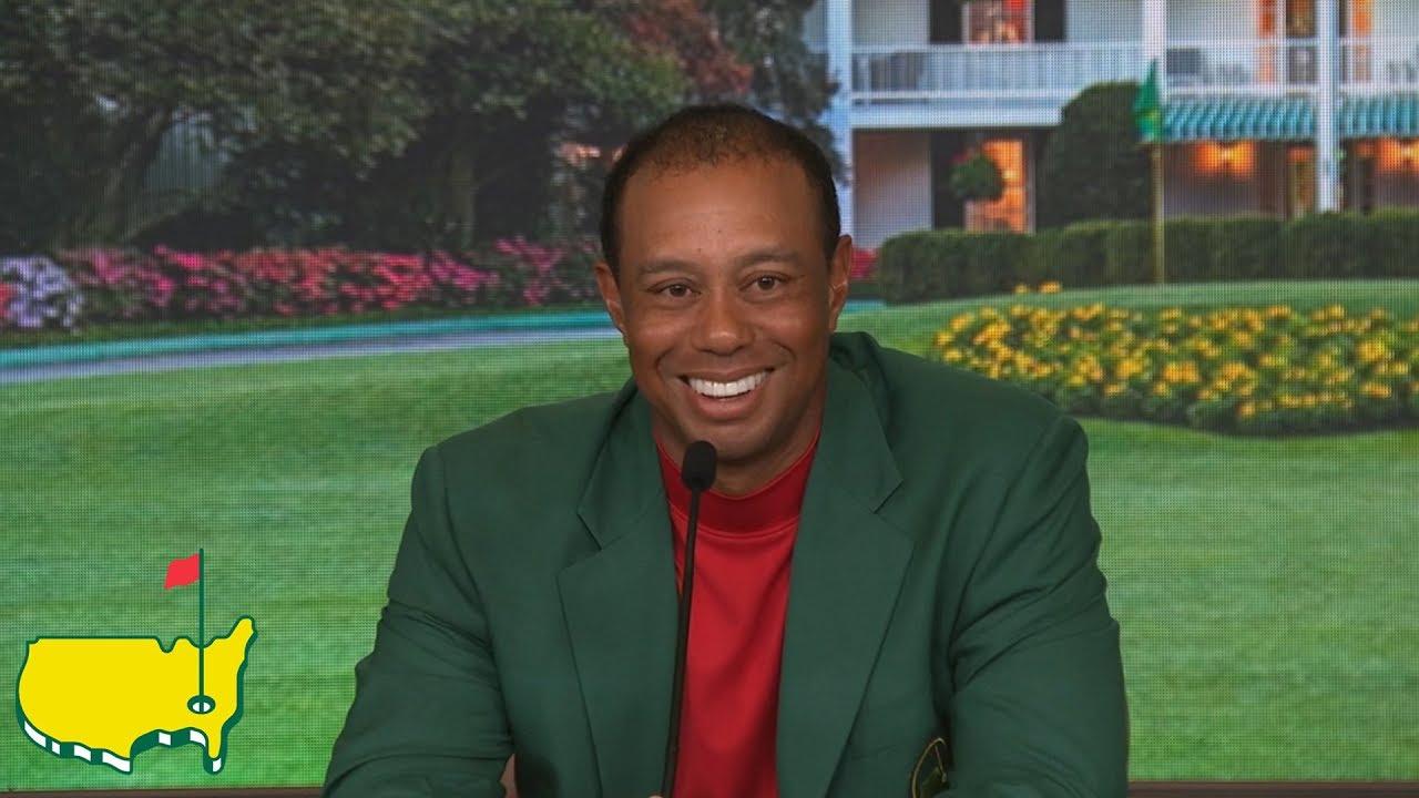 Tiger Woods Winning Interview Screenshot Download