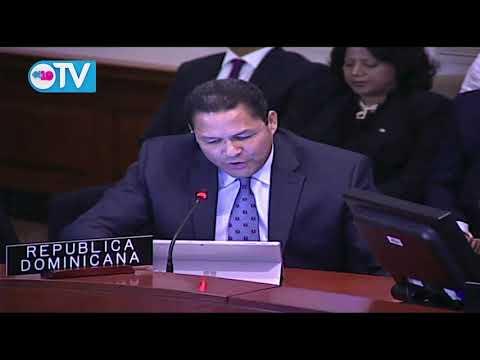 República Dominicana reflexiona ante la OEA sobre la crisis de las minorías golpistas o desesperadas