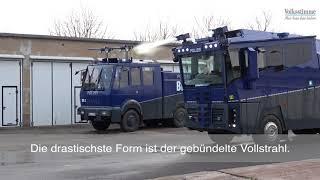 Wasserwerfer für die Polizei