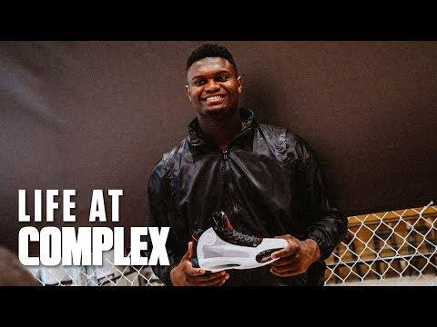 Zion Williamson Unveils Air Jordan 34 In Harlem!   #LIFEATCOMPLEX