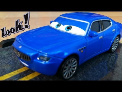 Cars 2 Bindo #37 Diecast Disney Pixar Blue Maserati Exclusive Mattel Toy By Blucollection