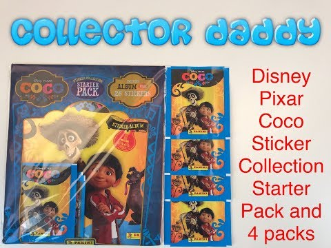 Disney Pixar Coco Sticker Collection Starter Pack And 4 Packs