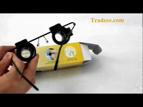 Watch Repair 20X Magnifier White LED Light Glass Loupe Lens