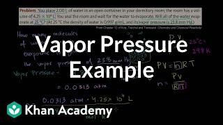 Vapor Pressure Example