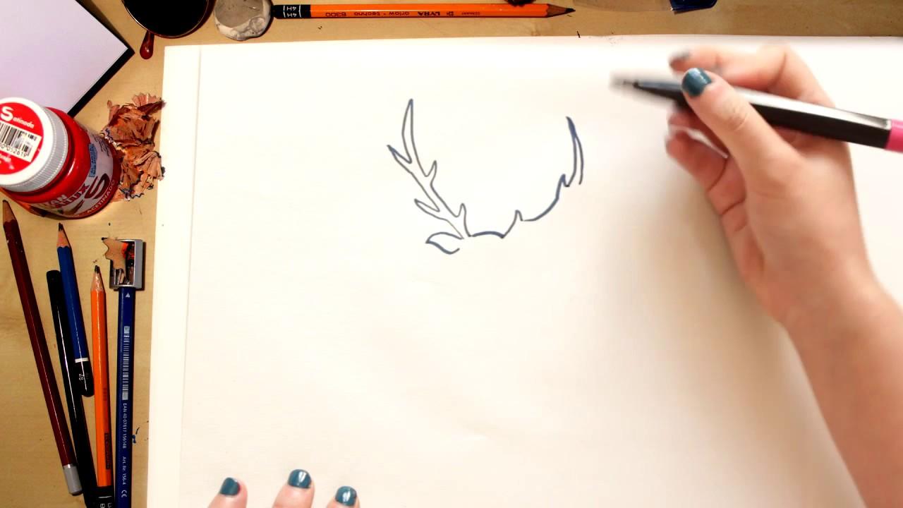 Como desenhar um Alce - desenhos para crianças