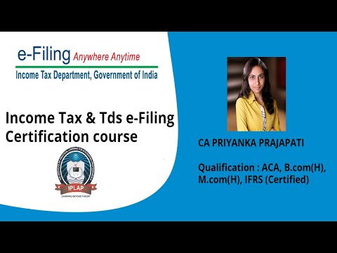 Income tax and tds certification course-Practical   Online Income tax ...