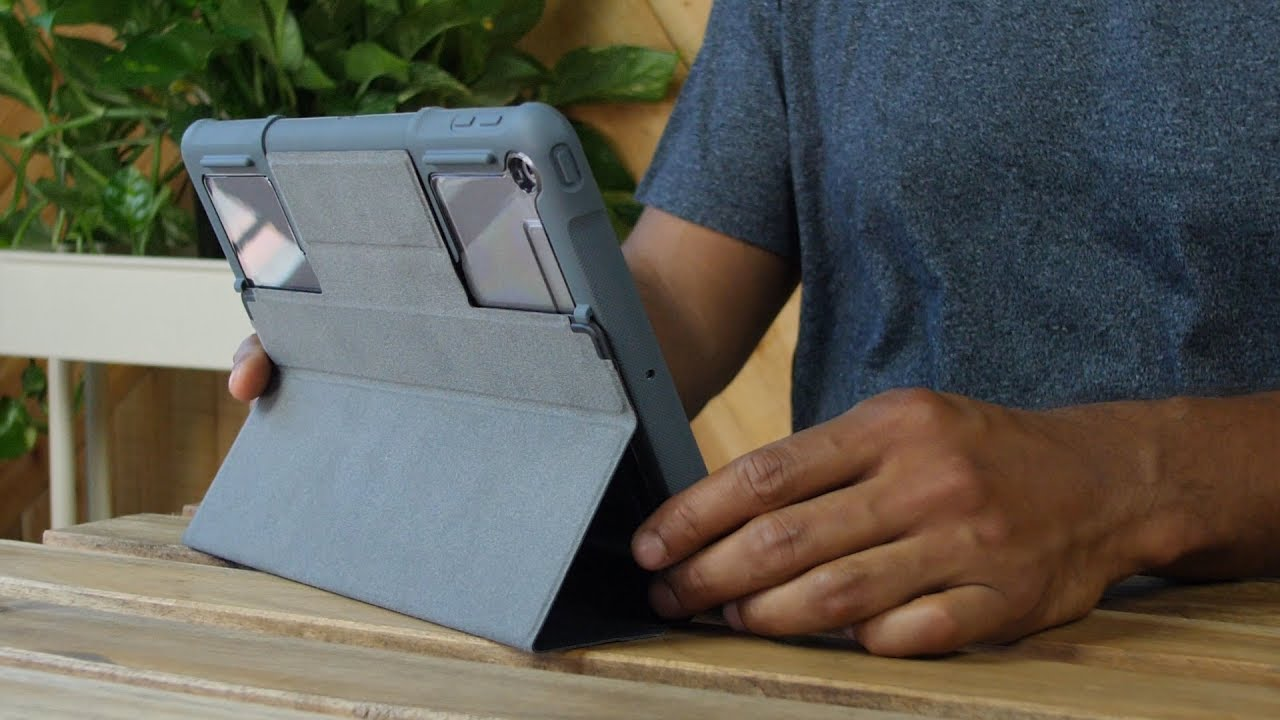 Чехол STM Dux Rugged Case (Black) stm-222-160GY-01 для iPad mini 4/mini 5 video preview