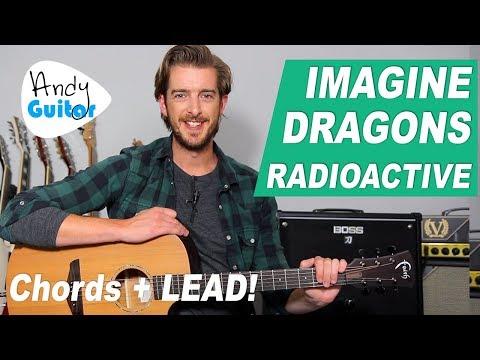 'RADIOACTIVE' IMAGINE DRAGONS Acoustic Guitar Tutorial // CHORDS + LEAD!