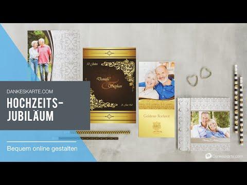 Einladungen zur Silbernen und Goldenen-Hochzeit - Dankeskarte.com