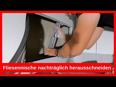 Fliesennische Duschablage Seifenablage nachträglich herstellen bauen / Trockenbau - Dachausbau DIY