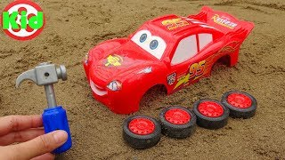 Assembling Lightning Mcqueen race car - children's toys B1246P Kid Studio