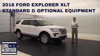 2018 FORD EXPLORER XLT OVERVIEW STANDARD & OPTIONAL EQUIPMENT