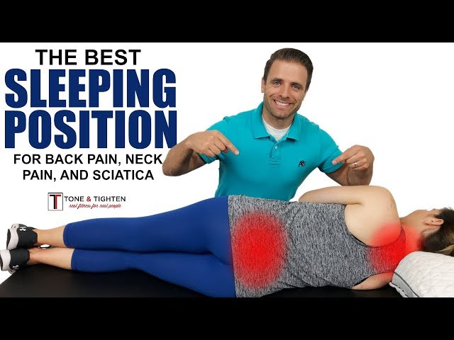 The best sleeping position for back pain, neck pain, and sciatica - Tips from a physical therapist