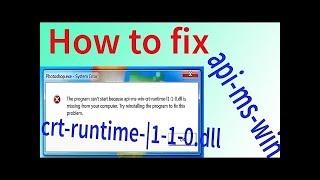 lỗi api-ms-win-crt-runtime-l1-1-1.dll
