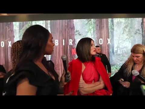 Sandra Bullock Gives Advice To Aspiring Actors At The Bird Box Screening in New York