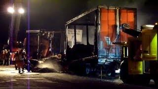 preview picture of video 'A1: LKW bei Oyten in Flammen (11.09.12, VORABINFO)'