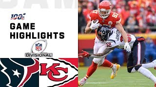 The Houston Texans take on the Kansas City Chiefs during the Divisional Round of the 2019 NFL postseason.  Subscribe to NFL: http://j.mp/1L0bVBu  Check out our other channels: NFL Vault http://www.youtube.com/nflvault NFL Network http://www.youtube.com/nflnetwork NFL Films http://www.youtube.com/nflfilms NFL Rush http://www.youtube.com/nflrush NFL Play Football https://www.youtube.com/playfootball NFL Podcasts https://www.youtube.com/nflpodcasts  #NFL #Texans #Chiefs