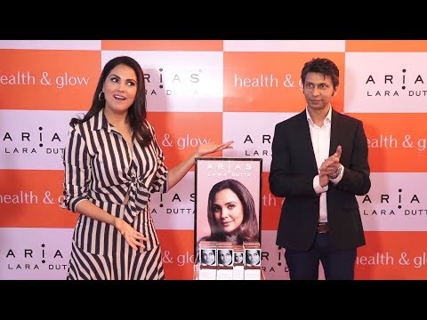 Beautiful Lara Dutta Launches Her Skin Care Line Arias @ Health & Glow