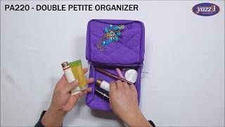 PA220 Double Petite Organiser   Yazzii Travel Bags