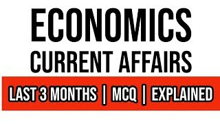 Economics Current Affairs (JANUARY - MARCH 2019) for BANK Exams | SSC | PSC's | Railway