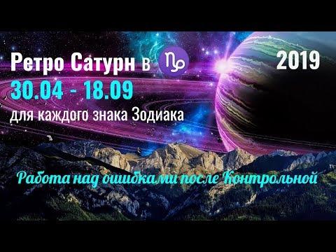 Что принесет Ретро Сатурн каждому знаку Зодиака 30.04 - 18.09.2019