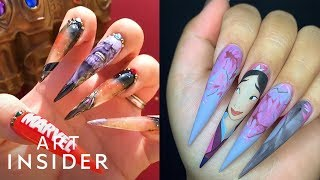 Artist Paints Character-Themed Nails