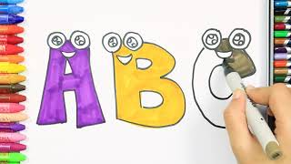 Как нарисовать буквы | Раскраски детей HD | Рисование и окраска | Рисование для детей