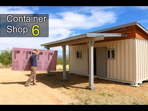 Shipping container shop 6 insulation walls best work pants kathryn kate - How do you insulate a shipping container home ...