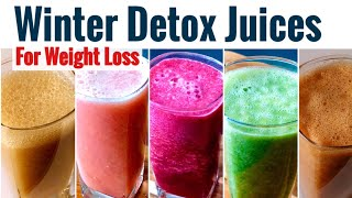5 Winter Morning Detox Juices | Cleansing Juices For Weight Loss & Healthy Skin | Morning Drinks