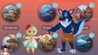 Thơ Nguyễn chơi game những con vật kỳ là trong thế giới động vật