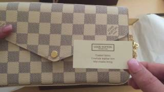 LV Pochette Felicie Damier Azur Reveal/Overview!
