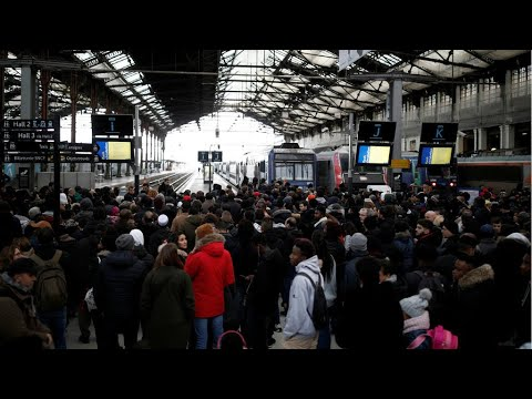Day 5 of public transport chaos in France as strike over pensions continues