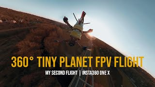 FPV Racing Drone - 360 Tiny Planet Flight with Insta360 One X Action Camera