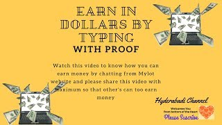 Earn money in dollars by chatting with earning proof