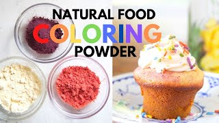 Natural Food Coloring Powder + Easy Rainbow Cupcakes!