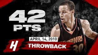 NBA Throwback: Stephen Curry 42 Points Highlights vs Trail Blazers | April 14, 2010