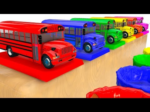 Download BUS COLOR for Kids - Learn Cars w Learning Educational Video - 3D Superheroes for babies HD Mp4 3GP Video and MP3