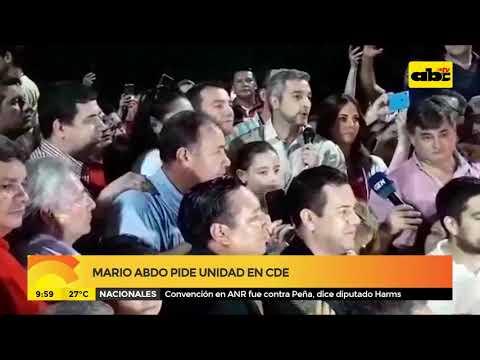 Mario Abdo pide unidad en CDE