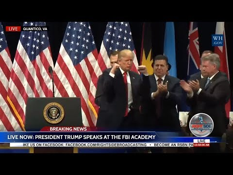 WATCH: President Donald Trump EXPLOSIVE Speech at FBI Academy in Quantico, VA