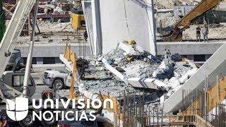 Dos días antes de que colapsara el puente en Miami, un ingeniero reportó grietas en la estructura