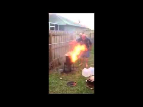 Deep Frying a Turkey Epic Fail