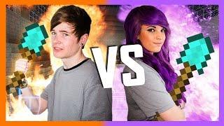 DanTDM v AshleyMarieeGaming - Round 2 - Minecraft: 1v1 | Legends of Gaming