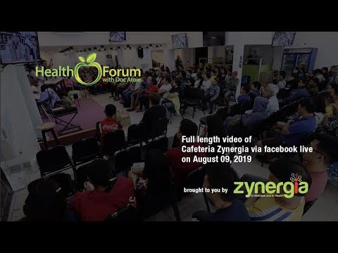 9 August 2019 | Cafeteria Zynergia via Facebook Live