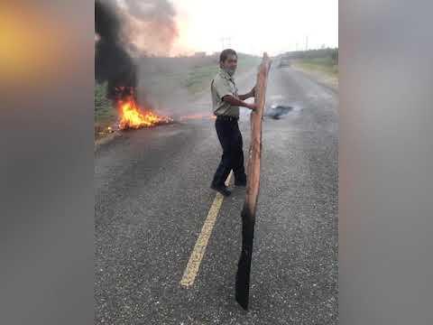 Tires Burnt on George Price Highway