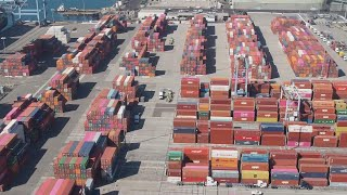 Record 100 Ships Waiting to Unload Sit Off Los Angeles Coast