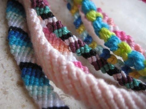 Bracciali di cotone - Nodo semplice