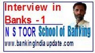 Bank Interviews - Part 1