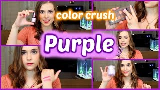 Color Crush: PURPLE eyes, lips, nails, and more!