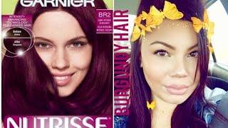 Garnier Nutrisse Ultra Color Hair Dye REVIEW | Dark Intense Burgundy