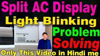Mitsubishi split ac light blinking troubleshoot find out with manual